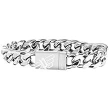Police Men Stainless Steel Charm Bracelet - PJ26054BSS.01-L