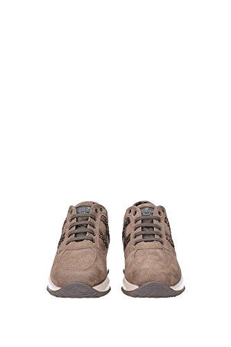 HXW00N0S3609KE0AN4 Hogan Sneakers Damen Wildleder Braun Braun