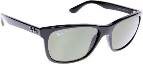 Ray-Ban schwarz polarisiert Green Klassische G-15 57mm RB4181 Wayfarer-Sonnenbrille