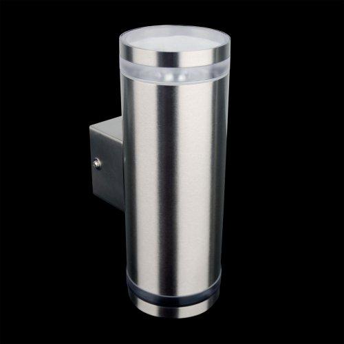 s`luce Steel 2.5 Wandlampe 2x9W, Edelstahl KH165A-2 - 2