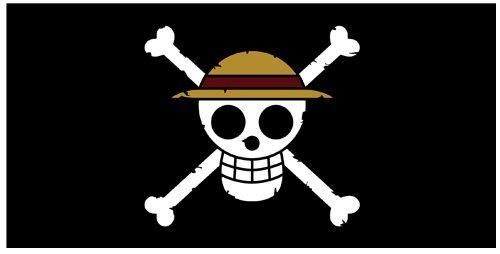 Pirates Drapeau Pirate Big serviette One Piece paille