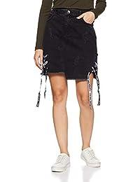 Sf Jeans By Pantaloons Women's A-line Mini Skirt