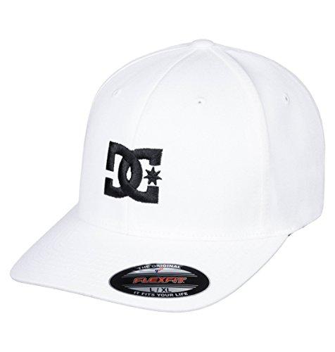 DC Shoes Cap Star-Gorra para Hombre Flexfit, White/Black, L/XL
