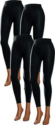 RS. Harmony | Leggings für Damen | Microfaser Glanz | 4 Stück | schwarz | 43132