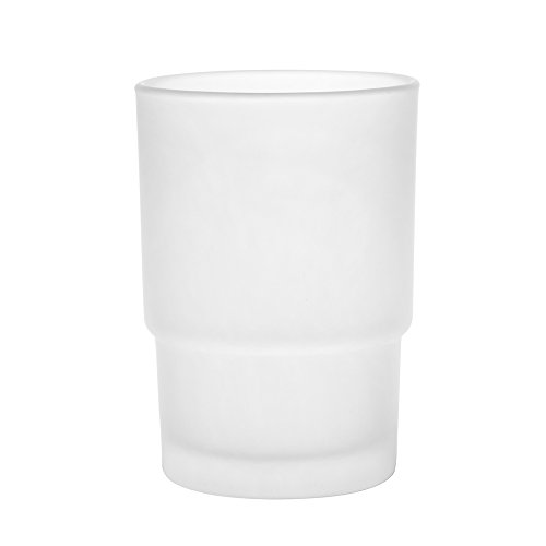 2x-frosted-glass-tumbler-toothbrush-mug-replacement-universal-spare-for-bathroom-accessories-frosted