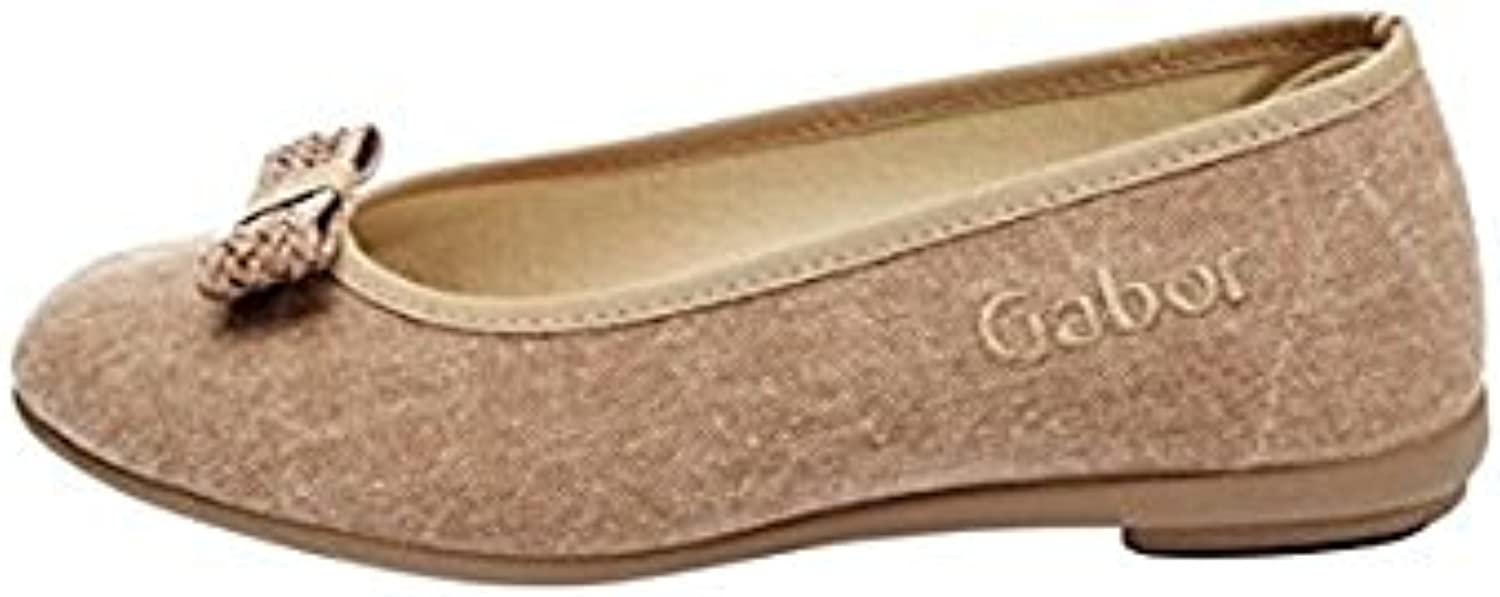 Gabor 81.843 Damen Ballerinas Canvas Braun EU 42