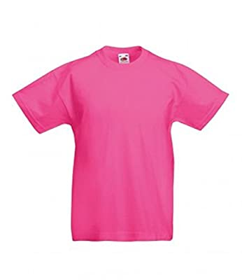 Fruite of the Loom Childrens T-Shirt–Different Colours Available]