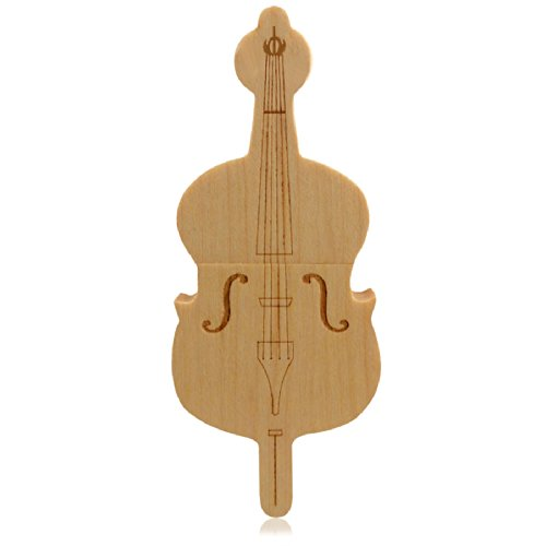 818-shop no17500040336 hi-speed (usb 3.0 16gb) pendrive strumento musicale violino di legno