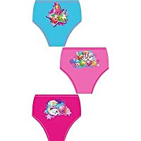 NEW GIRLS 3 IN A PACK SHOPKINS BRIEFS, KNICKERS, UNDERWEAR SIZE 3-4, 5-6 & 7-8 YEARS (5-6 YEARS)