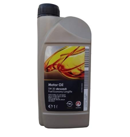Olio motore GM Genuine 5W-30 5W30 Dexos 2 General Motors 1 Litro per motori GM Opel, Sintetico
