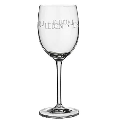 Räder Vino Rotweinglas Leben Lieben Lachen (Leben Lachen Liebe Weiß)