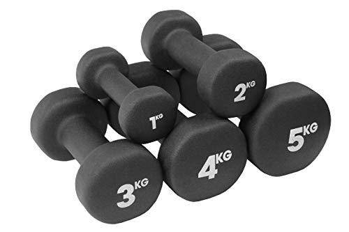 Fitness mad manubri neo da unisex, nero, 1 kg