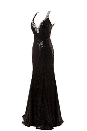ivyd ressing robe luxurioes col V Paillette pierres Party Prom robe robe du soir Schwarz