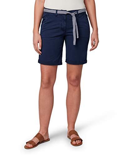 TOM TAILOR für Frauen Hosen & Chino Relaxed Chino Bermuda Shorts True Dark Blue, 38 True Chino Hose