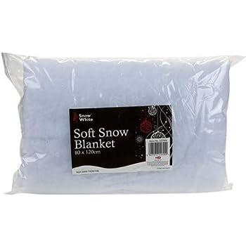 for Christmas Winter Craft Display Fake Snow Fabric Window Dressing Silver Glitter//Frosty Christmas Snow Kaemingk Artificial White Snow Carpet 120cm x 80cm