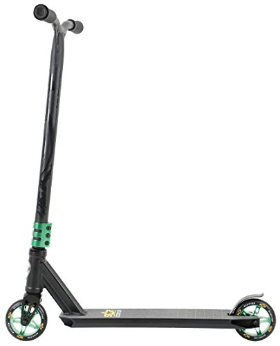 STAR-SCOOTER® Patinete Scooter Premium Freestyle Stuntscooter a partir de 8 años ? 110mm Edición Semi Profesional ? Negro & Verde