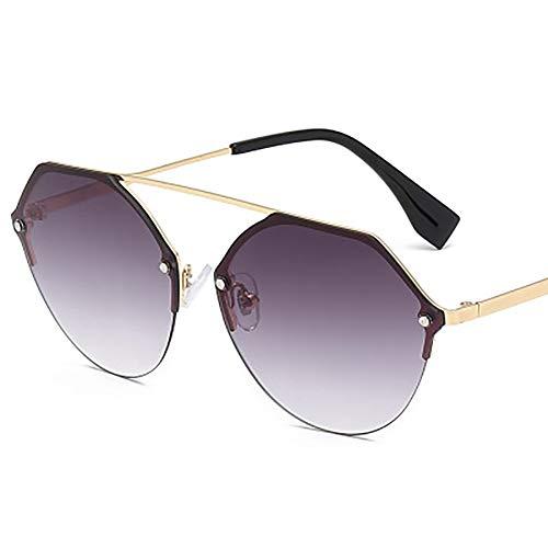 FYrainbow Europäische und amerikanische Sonnenbrille, hochmoderne Metallbein-Sonnenbrille am besten zum Angeln Golf Outdoor-Reisemöglich-Linsen,A