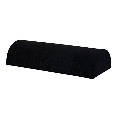 Soferia - Ikea BEDDINGE Fodera per Cuscino semicircolare, Eco Leather Black