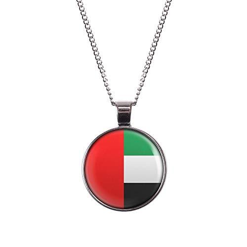 Mylery Hals-Kette mit Motiv Vereinigte Arabische Emirate Flagge Silber 28mm