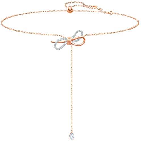 Peach Schmuck Kostüm - JinNiFu Women's Halskette:Halskette mit Halskette(None Rosegold.)