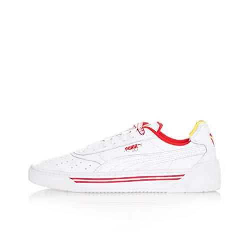 Sneakers UOMO PUMA Cali-0 Drive Thru CC 369472.01 (44.5-01 Wht-YELW-HI Red)