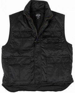 Outdoor Ranger-Weste / Einsatzweste schwarz (Gr.S-6XL) mit Taschen von Mil-Tec bei Outdoor Shop