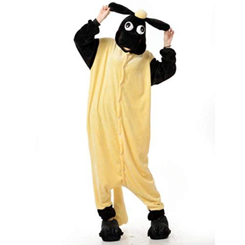 DUKUNKUN Erwachsene Tier Cute Cartoon Schafe Cosplay Kostüme Pyjamas Halloween Party Weihnachten Cartoon - Für Erwachsene Schafe Kostüm