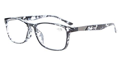 Eyekepper Qualitäts Leser Crystal Clear Vision Lesebrille Grau Schildkröte +3.0