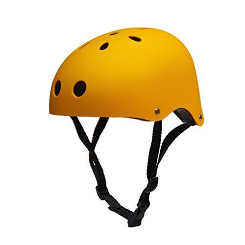 Jugend Mountain Inliner Skateboard Schutzhelm Rollschuhlaufen Farbiger Helm,Kinder Skateboarder Helm Fahrradhelm Integralhelm Rollerhelm für Radfahrer Scooter Bike Sicherheit Helm Kids,Yellow