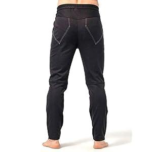 Inbike Pantalones Deportivos Hombre Impermeable Elásticos para Fitness Fútbol Ciclismo Yoga(Negro&Gris,L)