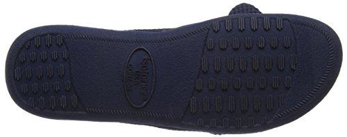 Isotoner - Isotoner Waffle Open Toe Slipper, Pantofole Donna Blue (Navy)