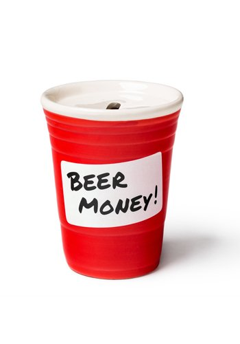 Mr.Giggelz Spardose roter Becher - Red Cup Beer Money Bank - Bier Spardose
