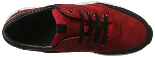 camel active Breathe 12, Sneakers Basses Homme Rouge (Scarlet/Black 02)