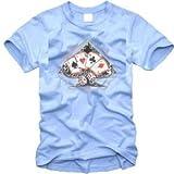Sputnik-Shirts T-shirt design poker (tailles: S à 5XL) bleu marine XXXL