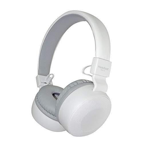 Kopfhörer Wasserdicht Kubite Wire Sport Headset Stereo Kopfhörer Kopfhörer Mic für Smartphone Wire-Kopfhörer Ohr Faltbarer Stereo-Kopfhörer (White) - White Mobile Maus