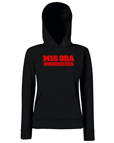 T-Shirtshock - Sweats a capuche Femme WC1173 man-utd-postcode-tshirt design Noir