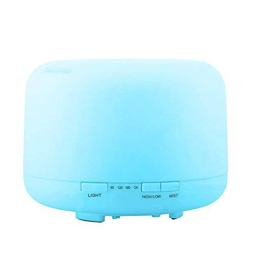 GEEKHOM Difusor Aromaterapia, 500ml Humidificador Aromaterapia, Difusor de Aceites Esenciales, Purificador de aire con 8 Luces LED de Colores para Hogar Oficina Spa Bebé