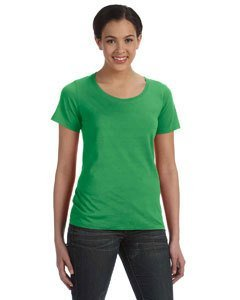 Anvil: Ladies Sheer Scoop Tee 391, Größe:XS;Farbe:Green Apple (Armee Womens Neck Scoop T-shirt)
