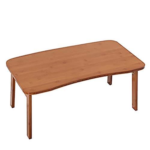 YOUXD Klappbarer Esstisch, Faltbarer Kleiner tragbarer Heimfaul-Computertisch 70 * 42 * 31cm - 2 Schubladen Naturholz-nachttisch