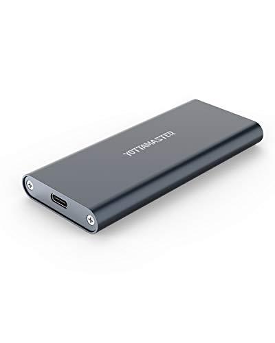 Yottamaster M.2 SATA SSD Gehäuse USB C Adapter,SATA3.0 auf USB3.1 Type-C M.2 SATA Adapter für B-Key/B+M Key 2230/2242/2260/2280 M.2 NGFF SSD