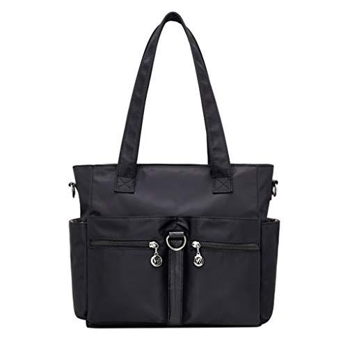 Lazzboy Taschen Handtaschen Damenmode Nylon einzelne Schulter Crossbody Tasche wasserdichte (Schwarz) -