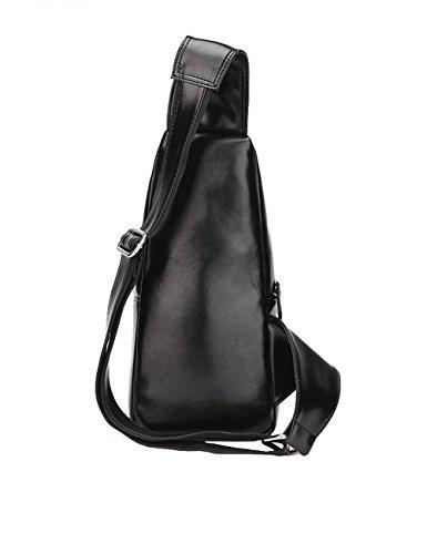 Sling bag,Schultertasche,Umhängetasche,Brusttasche,Rucksack zum Wandern,Radfahren,Reisen,Freizeit oder Multipurpose Tagepacks Herren Schwarz