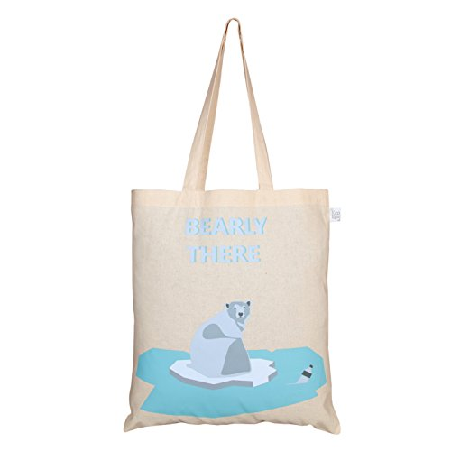 EcoRight Reusable 100% Cotton (lightweight) EcoFriendly Tote Bag Printed