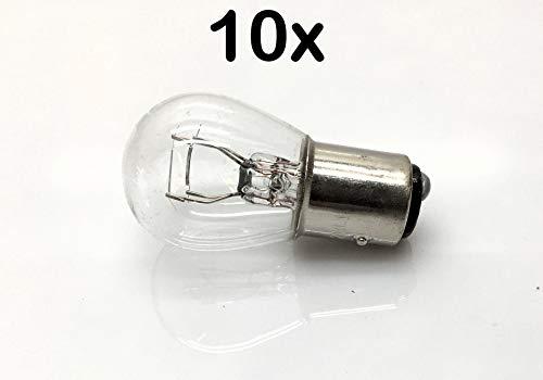 DAKAtec 950017 Glühlampe Rückfahrleuchte P21/5W 12V Sockel BAZ15d (10 Stück)