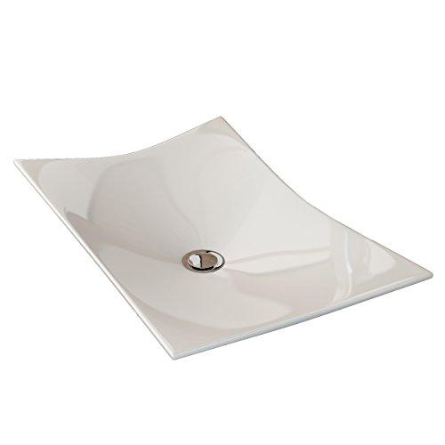 41 x 33 x 14.5 cm Art/&Bath Oval lavabo porcelana sobre encimera