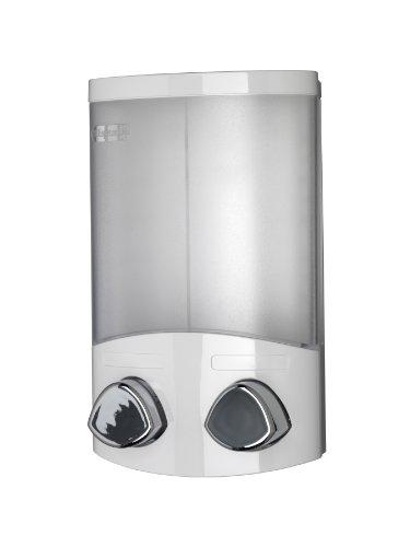 Croydex Euro - Dispensador de jabón Duo, color blanco