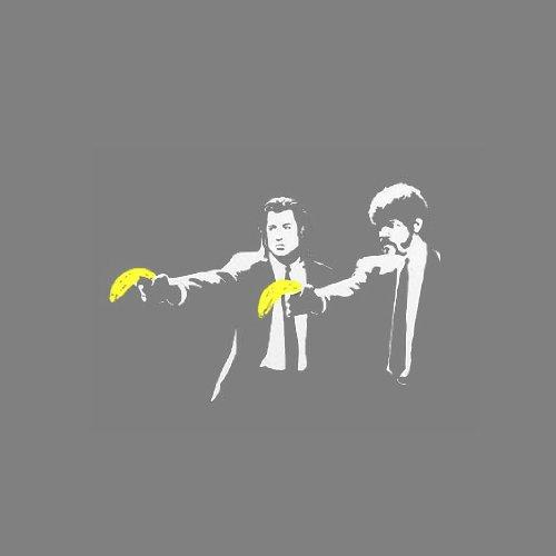 Vince & Jules Stencil - Herren T-Shirt Schwarz