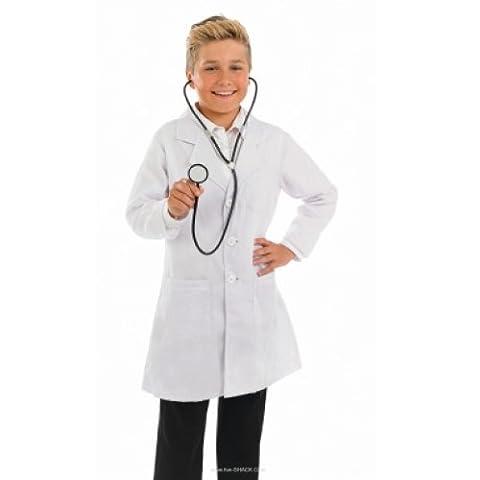 Fancy Me - Déguisement Costume Fille Garçon Enfant Docteur Infirmière avec Stéthoscope Age 4-12 Ans - Blanc, 6-8 Ans