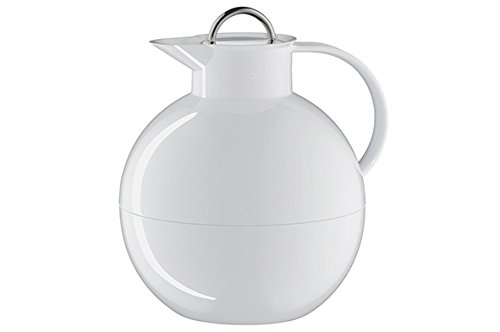 Alfi 0105011094 Isolierkanne Kugel Sonderedition, Kunststoff weiß 0,94 l