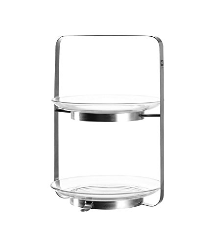 Leonardo - Etagere - Senso - Zwei Etagen - Metall, Glas - Höhe: 30 cm